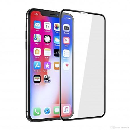 Cristal templado iPhone XS 5D FullGlue Disponible con el marco en color NEGRO.